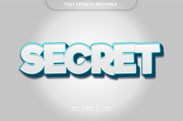 Efeito de estilo de texto 3d secreto