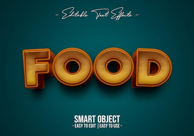 Efeito de estilo de texto alimentar