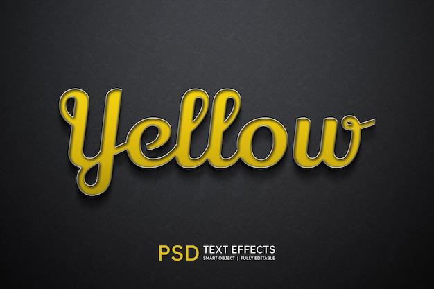Efeito de estilo de texto amarelo