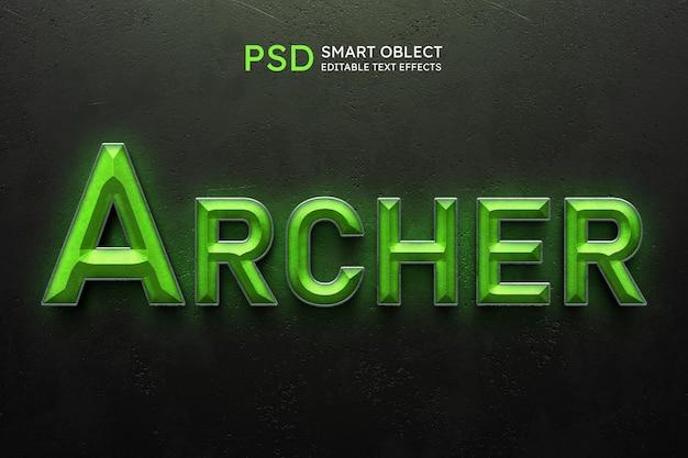 Efeito de estilo de texto archer