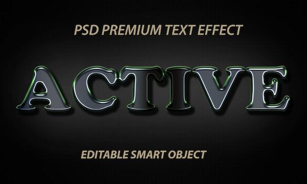 Efeito de estilo de texto ativo psd grátis