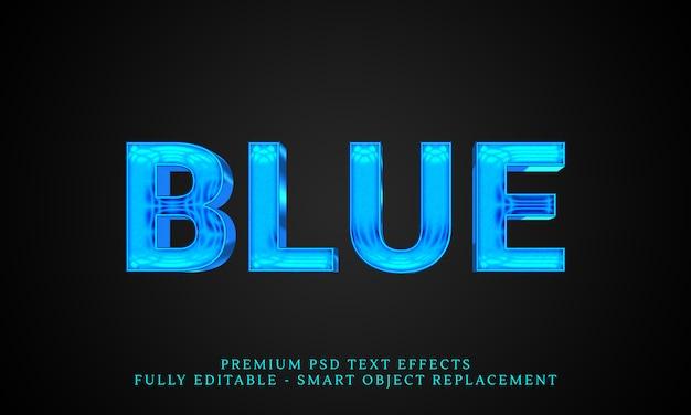 Efeito de estilo de texto azul, efeitos de texto