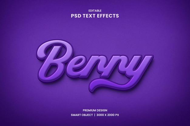 Efeito de estilo de texto berry