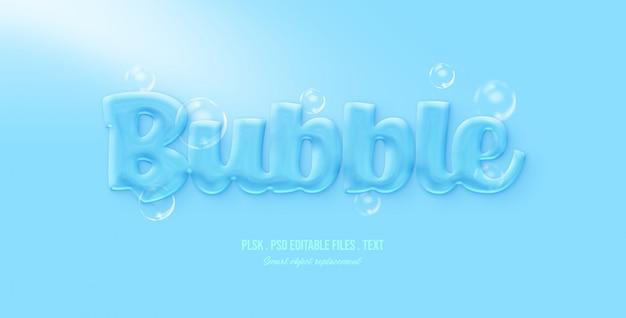 Efeito de estilo de texto bolha 3d