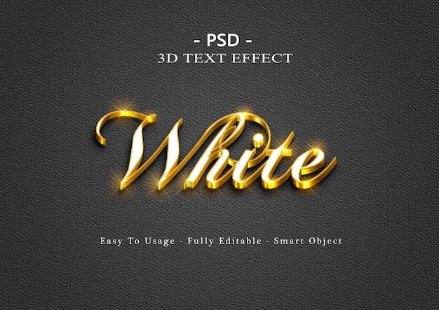 Efeito de estilo de texto branco 3d