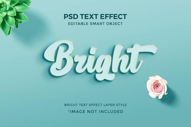 Efeito de estilo de texto brilhante