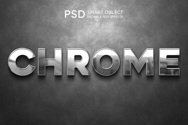 Efeito de estilo de texto chrome