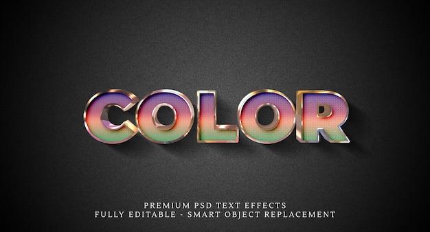 Efeito de estilo de texto colorido, efeitos de texto premium