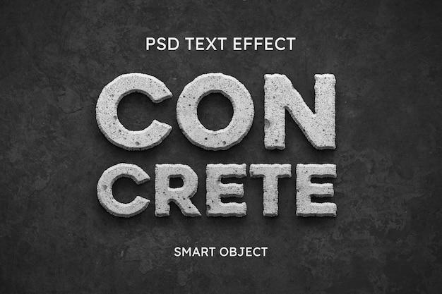 Efeito de estilo de texto concreto