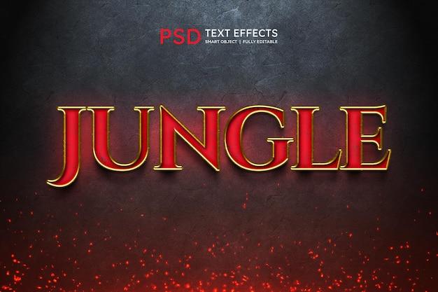 Efeito de estilo de texto da selva