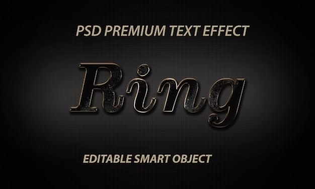 Efeito de estilo de texto de anel psd grátis