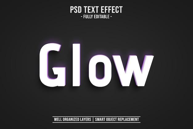 Efeito de estilo de texto de brilho editável