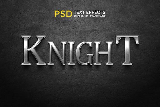 Efeito de estilo de texto de cavaleiro