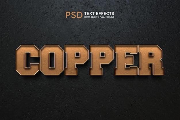 Efeito de estilo de texto de cobre