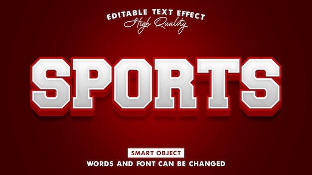 Efeito de estilo de texto de esportes