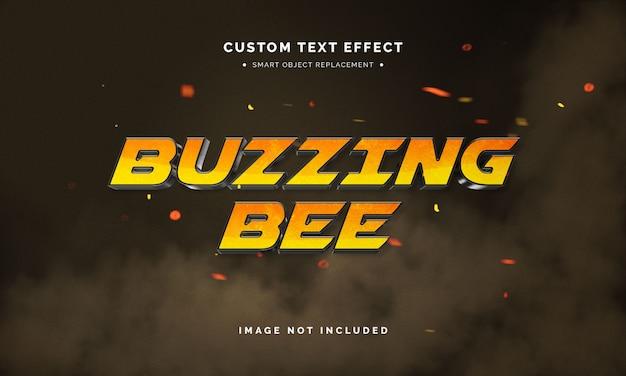 Efeito de estilo de texto de filme em 3d