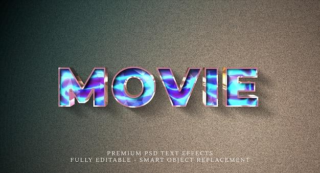 Efeito de estilo de texto de filme psd, efeitos de texto psd premium
