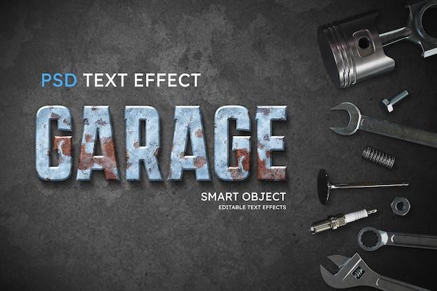 Efeito de estilo de texto de garagem