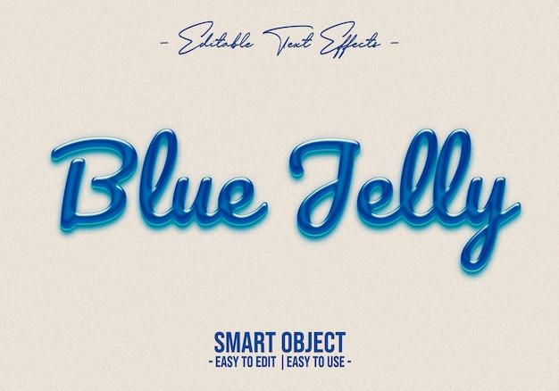 Efeito de estilo de texto de geléia azul