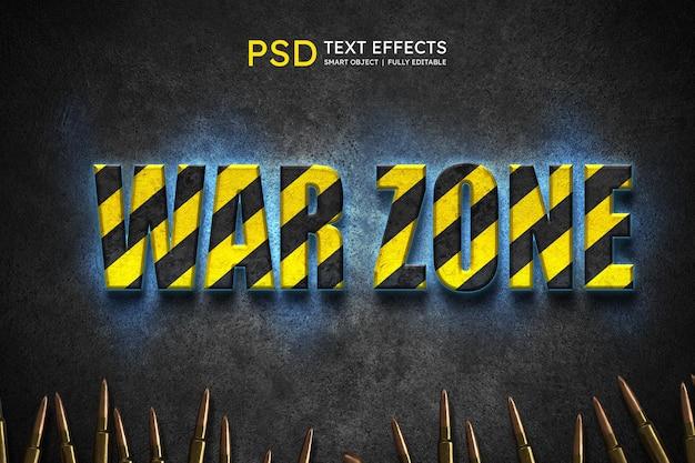 Efeito de estilo de texto de guerra sone