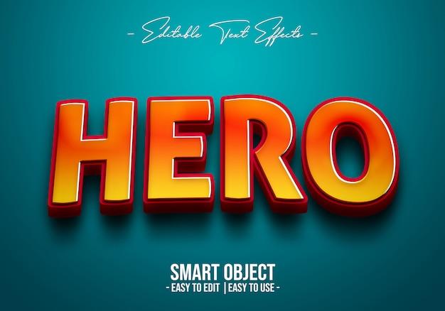 Efeito de estilo de texto de herói