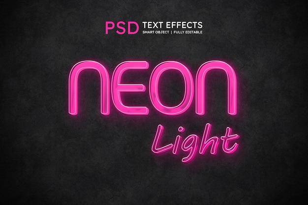 Efeito de estilo de texto de luz neon
