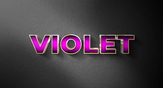 Efeito de estilo de texto de luz violeta