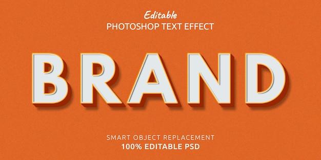 Efeito de estilo de texto de marca