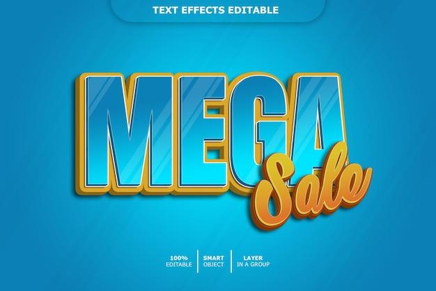 Efeito de estilo de texto de mega venda