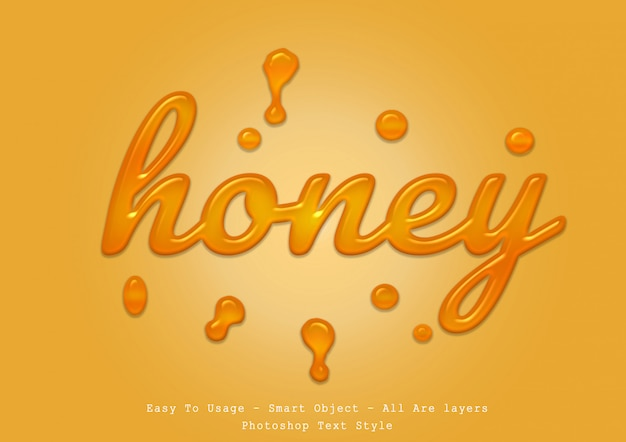 Efeito de estilo de texto de mel