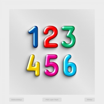 Efeito de estilo de texto de números