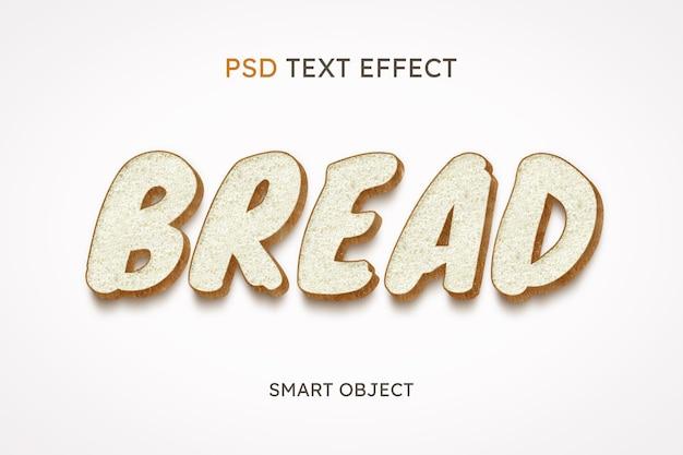 Efeito de estilo de texto de pão