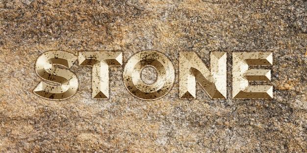 Efeito de estilo de texto de pedra dourada