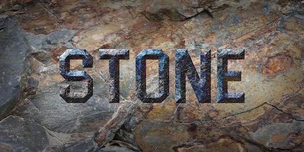 Efeito de estilo de texto de pedra grunge rústico