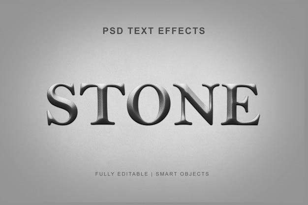 Efeito de estilo de texto de pedra