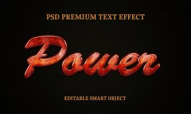 Efeito de estilo de texto de poder psd grátis