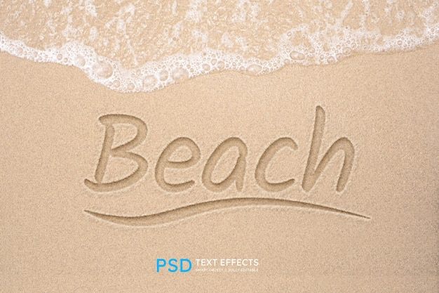 Efeito de estilo de texto de praia
