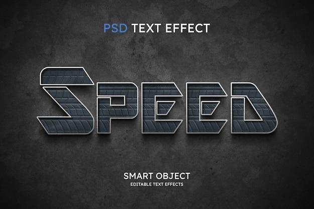 Efeito de estilo de texto de velocidade