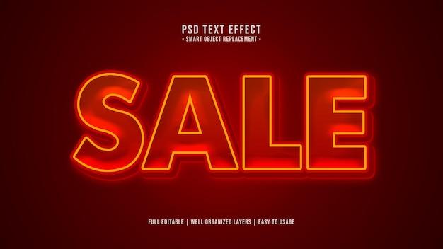 Efeito de estilo de texto de venda