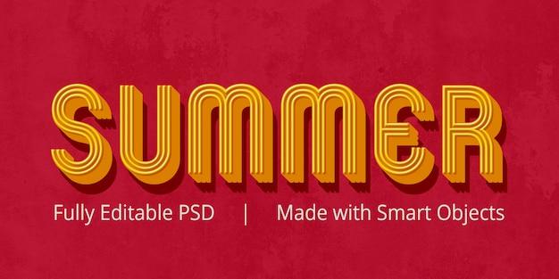 Efeito de estilo de texto de verão