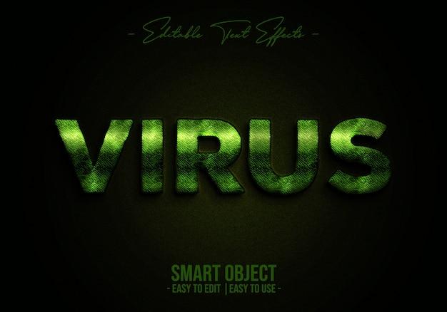 Efeito de estilo de texto de vírus