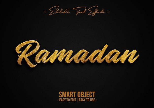 Efeito de estilo de texto do ramadã