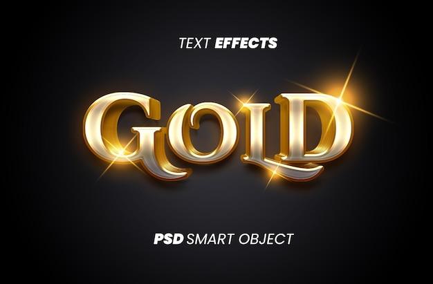 Efeito de estilo de texto dourado premium psd