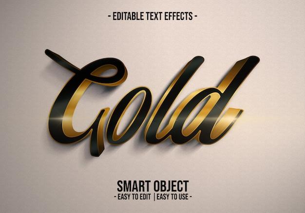 Efeito de estilo de texto dourado