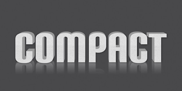 Efeito de estilo de texto editável compacto