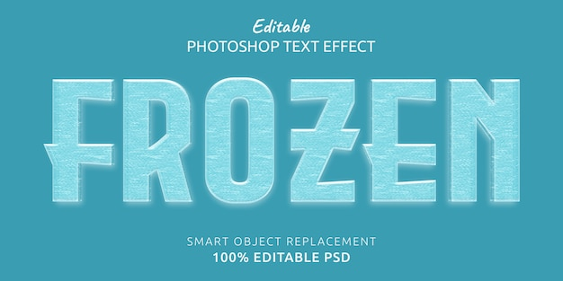 Efeito de estilo de texto editável congelado