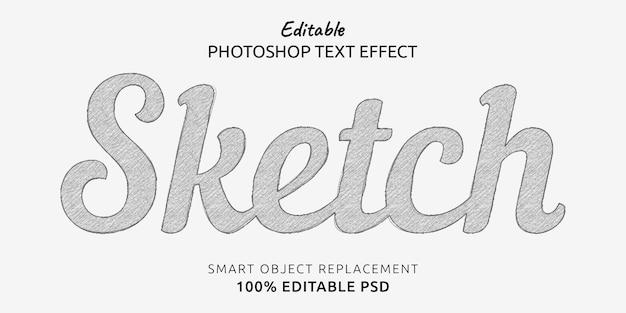 Efeito de estilo de texto editável de esboço