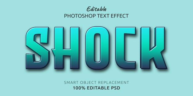Efeito de estilo de texto editável do photoshop para choque