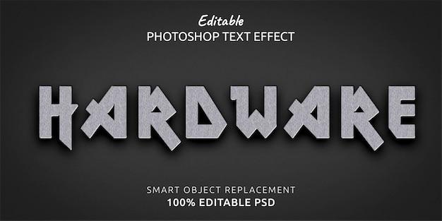 Efeito de estilo de texto editável em hardware do photoshop