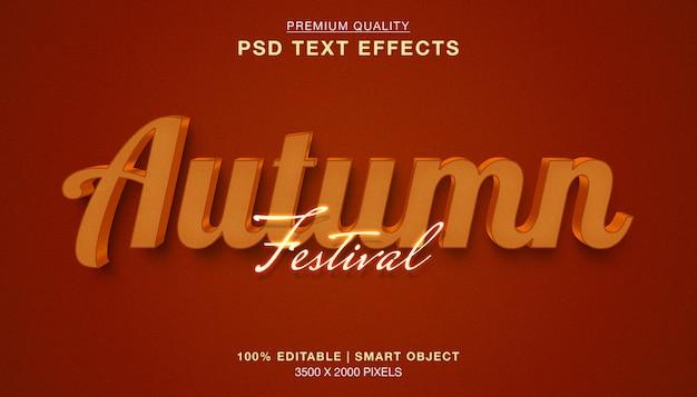 Efeito de estilo de texto editável festival outono